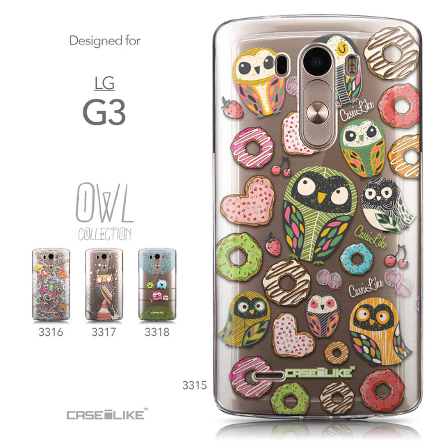 Collection - CASEiLIKE LG G3 back cover Owl Graphic Design 3315