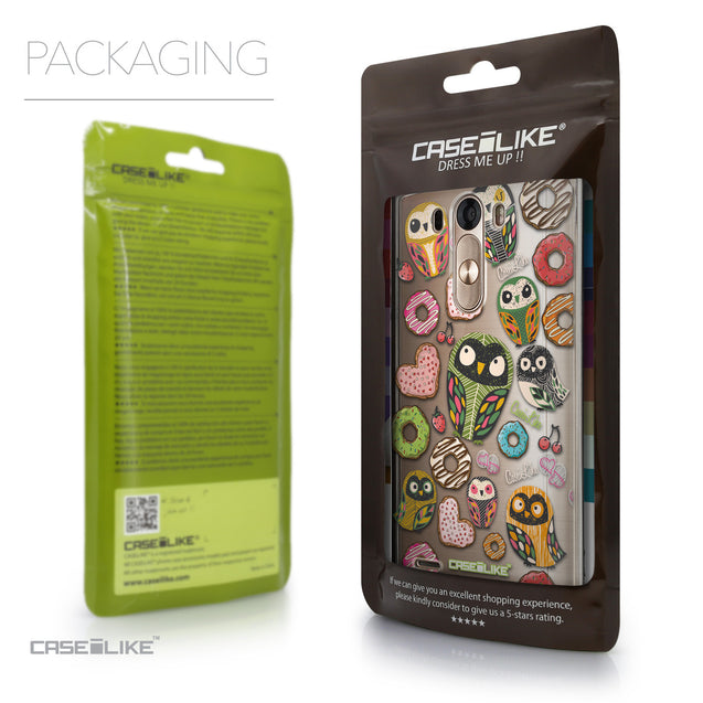 Packaging - CASEiLIKE LG G3 back cover Owl Graphic Design 3315