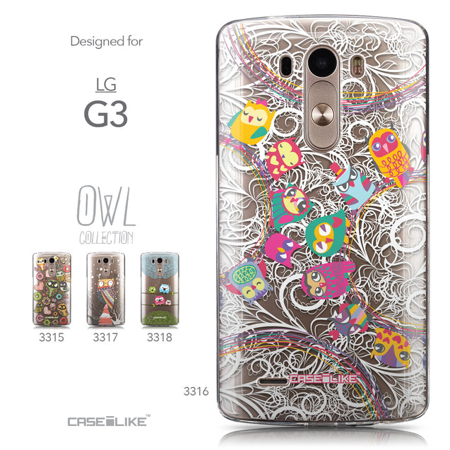 Collection - CASEiLIKE LG G3 back cover Owl Graphic Design 3316