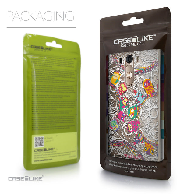 Packaging - CASEiLIKE LG G3 back cover Owl Graphic Design 3316