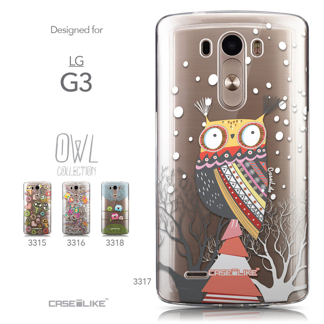 Collection - CASEiLIKE LG G3 back cover Owl Graphic Design 3317