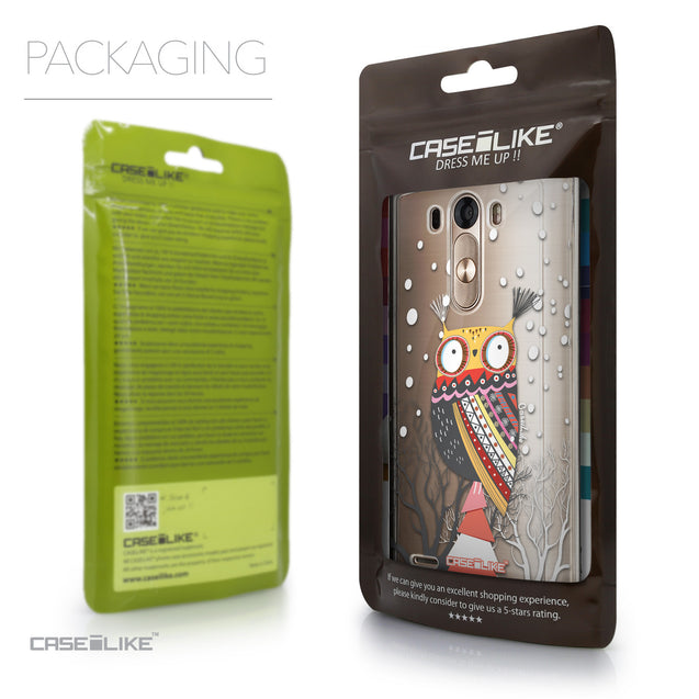 Packaging - CASEiLIKE LG G3 back cover Owl Graphic Design 3317