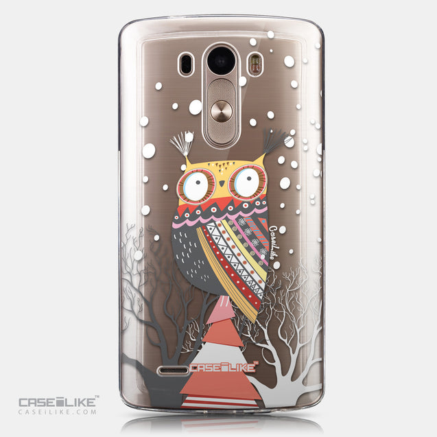 CASEiLIKE LG G3 back cover Owl Graphic Design 3317
