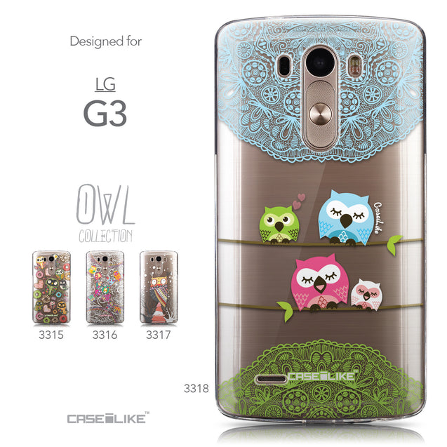 Collection - CASEiLIKE LG G3 back cover Owl Graphic Design 3318