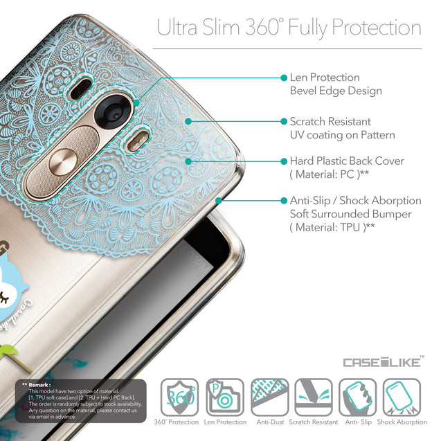Details in English - CASEiLIKE LG G3 back cover Owl Graphic Design 3318