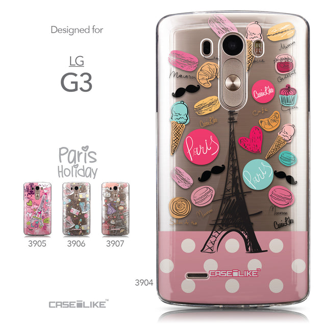 Collection - CASEiLIKE LG G3 back cover Paris Holiday 3904