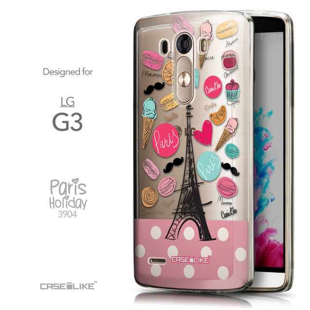 Front & Side View - CASEiLIKE LG G3 back cover Paris Holiday 3904