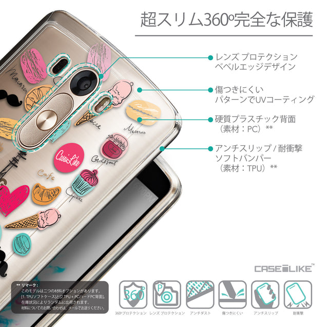 Details in Japanese - CASEiLIKE LG G3 back cover Paris Holiday 3904