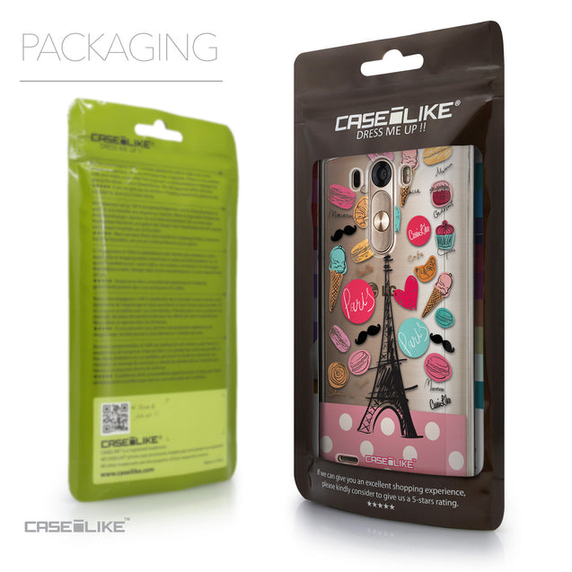 Packaging - CASEiLIKE LG G3 back cover Paris Holiday 3904