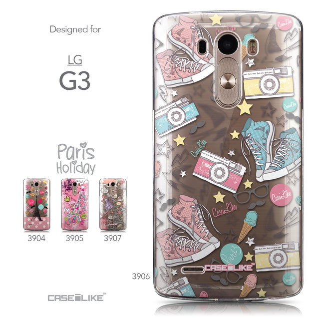 Collection - CASEiLIKE LG G3 back cover Paris Holiday 3906