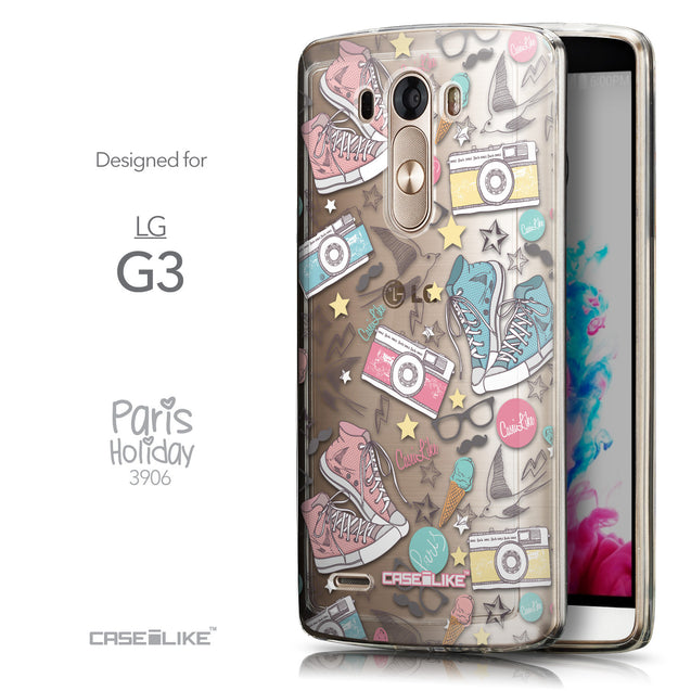 Front & Side View - CASEiLIKE LG G3 back cover Paris Holiday 3906