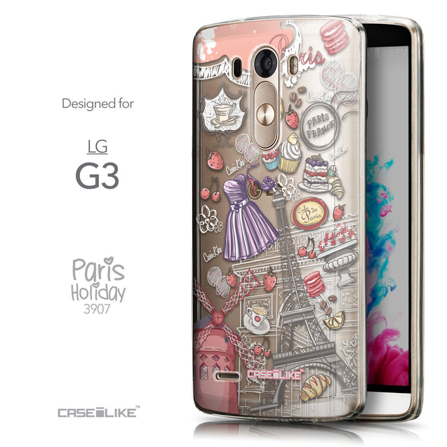 Front & Side View - CASEiLIKE LG G3 back cover Paris Holiday 3907