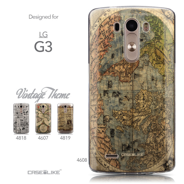 Collection - CASEiLIKE LG G3 back cover World Map Vintage 4608