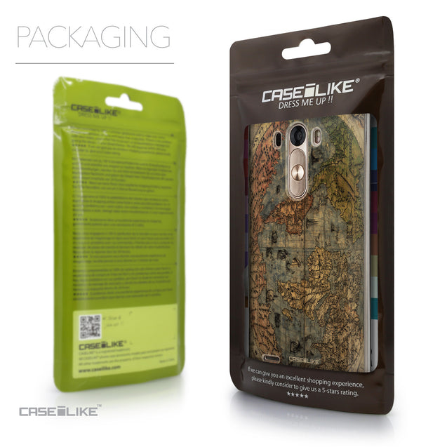 Packaging - CASEiLIKE LG G3 back cover World Map Vintage 4608