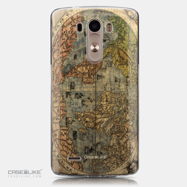 CASEiLIKE LG G3 back cover World Map Vintage 4608
