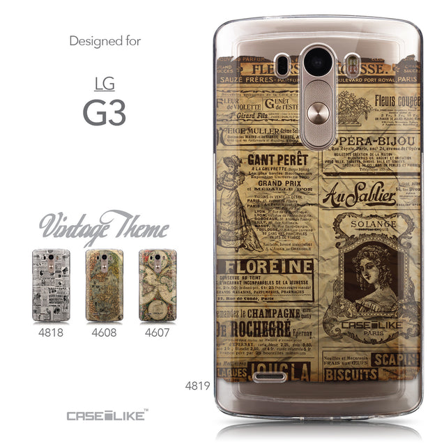 Collection - CASEiLIKE LG G3 back cover Vintage Newspaper Advertising 4819