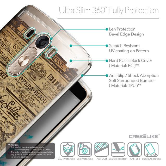 Details in English - CASEiLIKE LG G3 back cover Vintage Newspaper Advertising 4819
