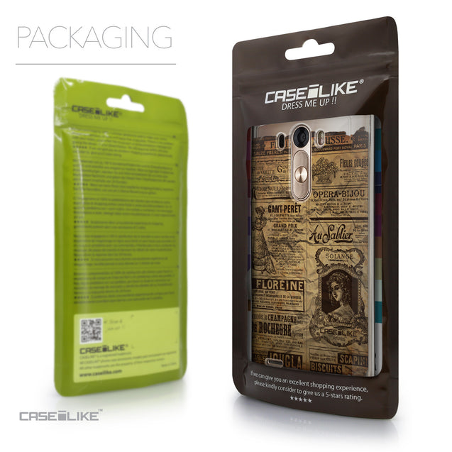 Packaging - CASEiLIKE LG G3 back cover Vintage Newspaper Advertising 4819