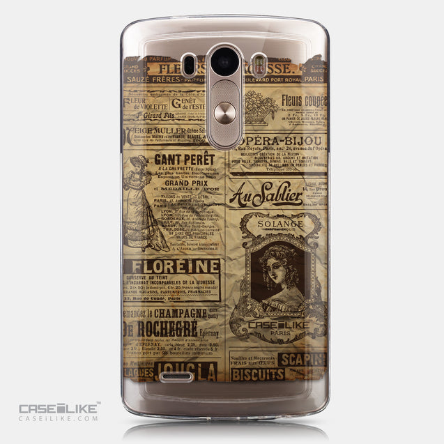 CASEiLIKE LG G3 back cover Vintage Newspaper Advertising 4819