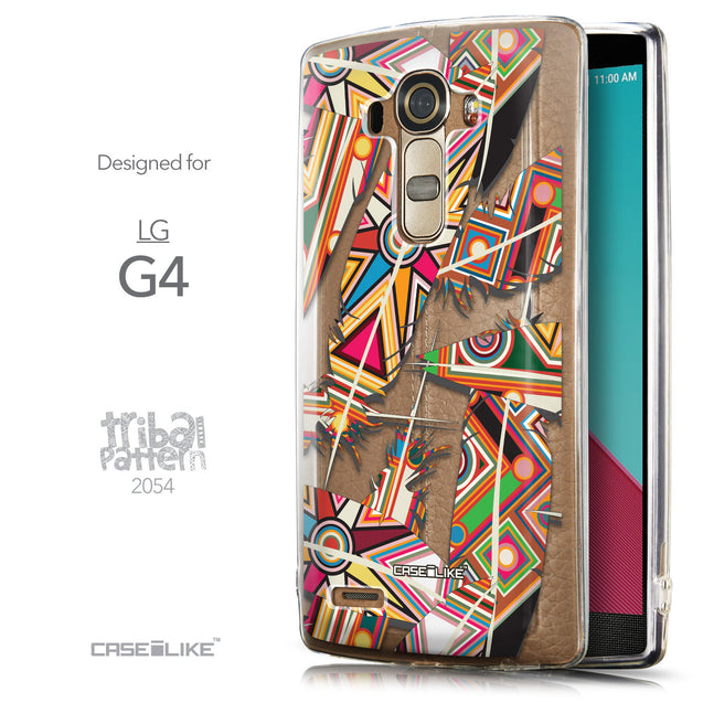 Front & Side View - CASEiLIKE LG G4 back cover Indian Tribal Theme Pattern 2054
