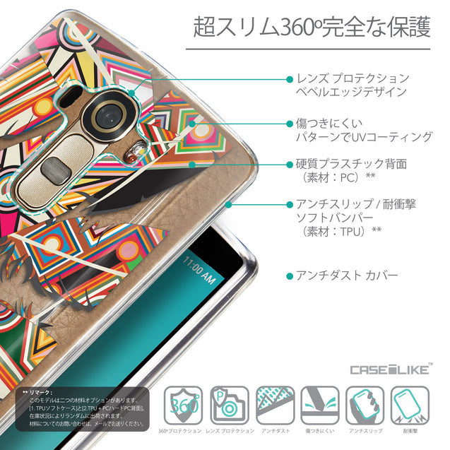 Details in Japanese - CASEiLIKE LG G4 back cover Indian Tribal Theme Pattern 2054