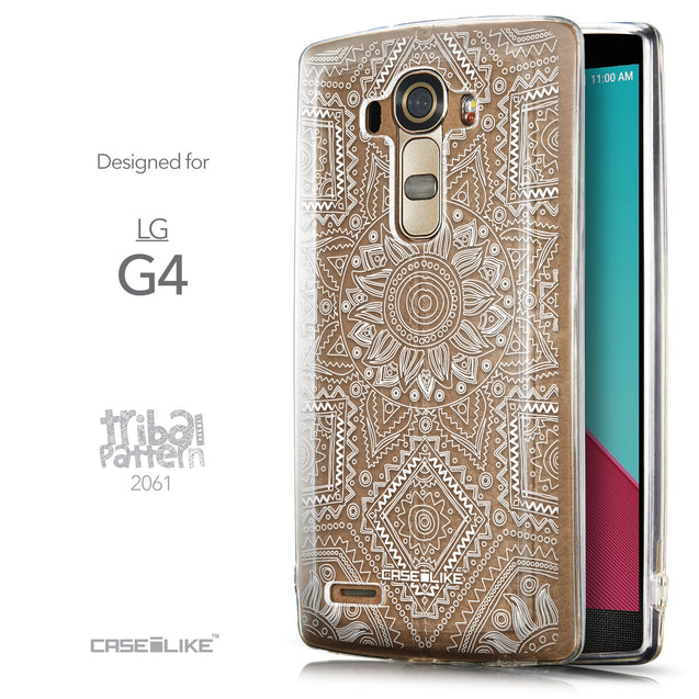 Front & Side View - CASEiLIKE LG G4 back cover Indian Line Art 2061