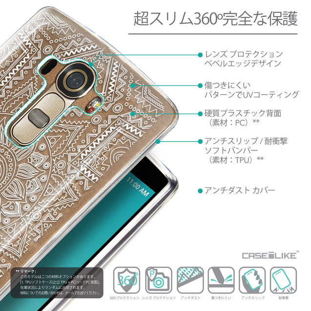 Details in Japanese - CASEiLIKE LG G4 back cover Indian Line Art 2061