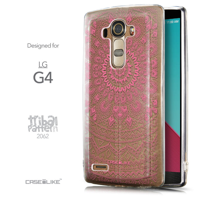 Front & Side View - CASEiLIKE LG G4 back cover Indian Line Art 2062