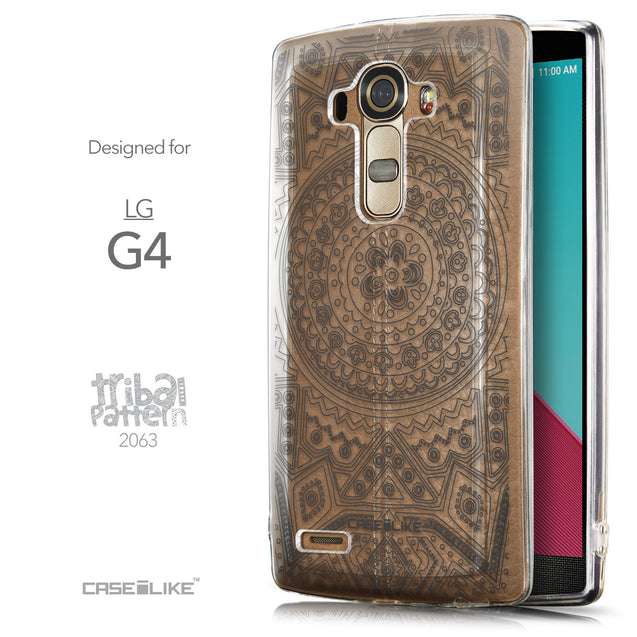 Front & Side View - CASEiLIKE LG G4 back cover Indian Line Art 2063