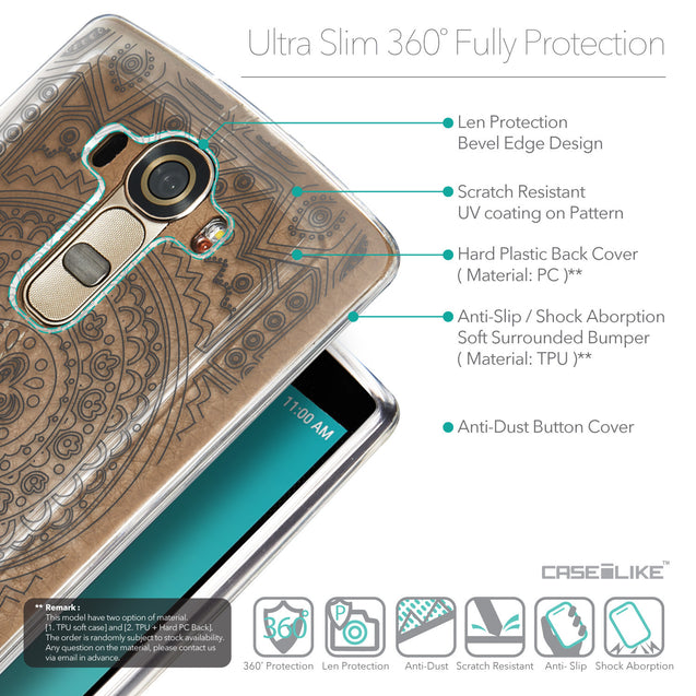 Details in English - CASEiLIKE LG G4 back cover Indian Line Art 2063