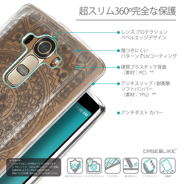 Details in Japanese - CASEiLIKE LG G4 back cover Indian Line Art 2063