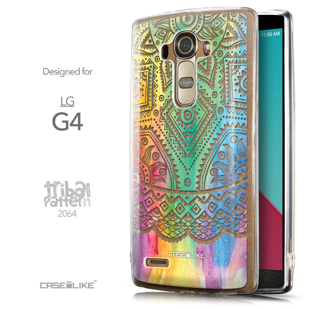 Front & Side View - CASEiLIKE LG G4 back cover Indian Line Art 2064