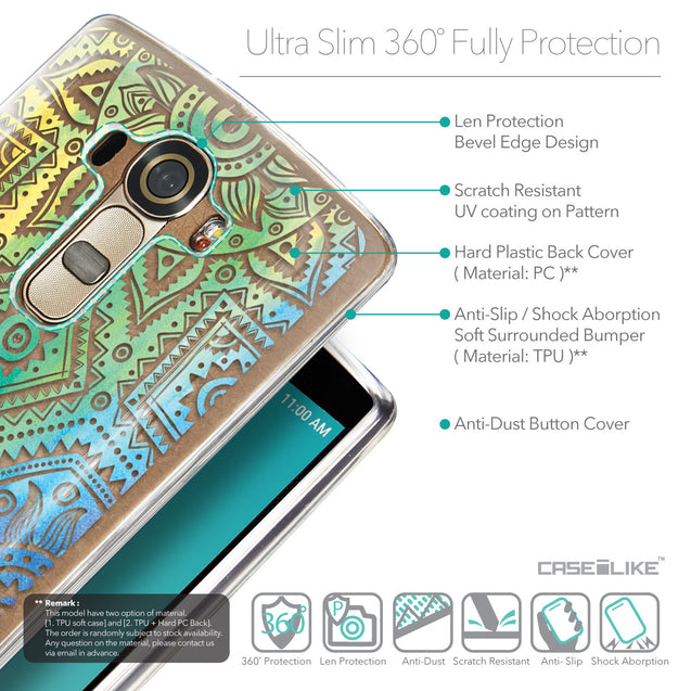 Details in English - CASEiLIKE LG G4 back cover Indian Line Art 2064