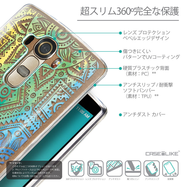 Details in Japanese - CASEiLIKE LG G4 back cover Indian Line Art 2064