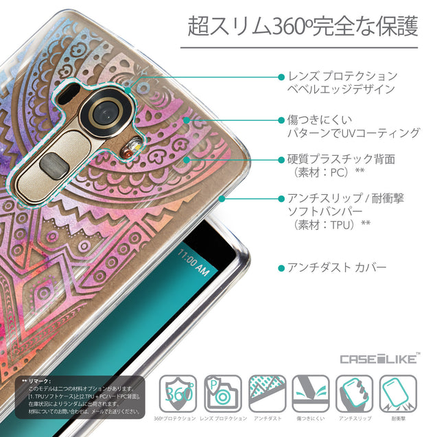 Details in Japanese - CASEiLIKE LG G4 back cover Indian Line Art 2065