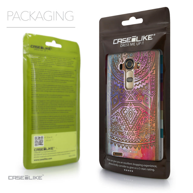 Packaging - CASEiLIKE LG G4 back cover Indian Line Art 2065