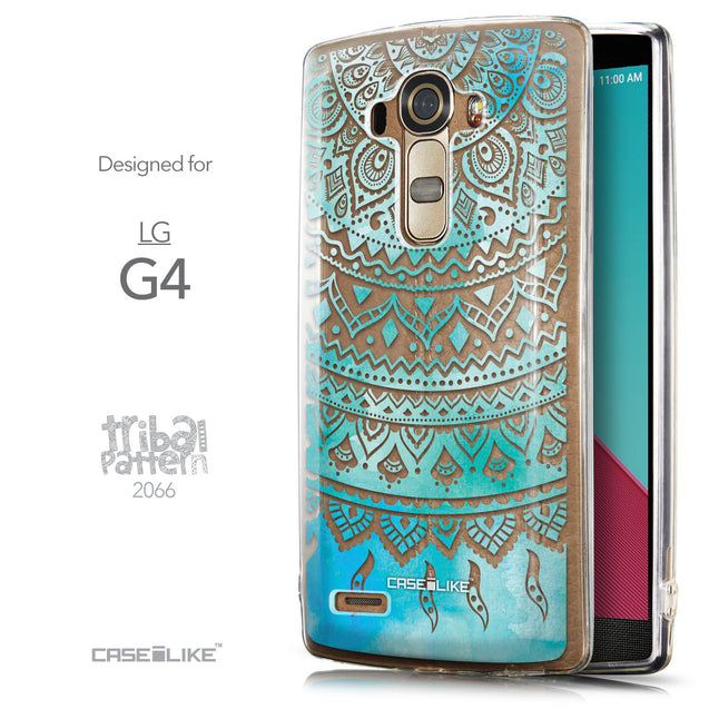 Front & Side View - CASEiLIKE LG G4 back cover Indian Line Art 2066