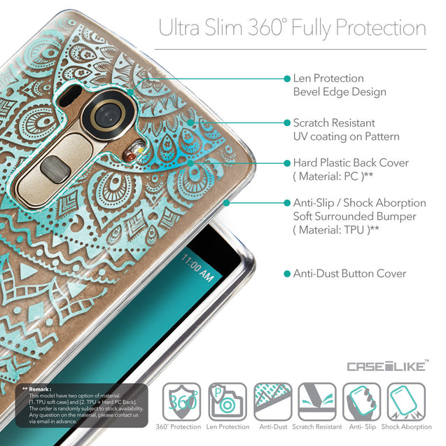 Details in English - CASEiLIKE LG G4 back cover Indian Line Art 2066