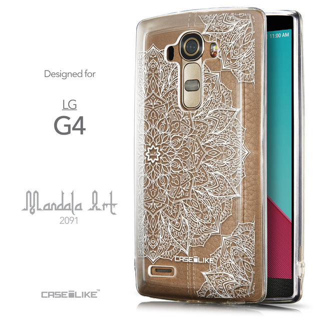 Front & Side View - CASEiLIKE LG G4 back cover Mandala Art 2091