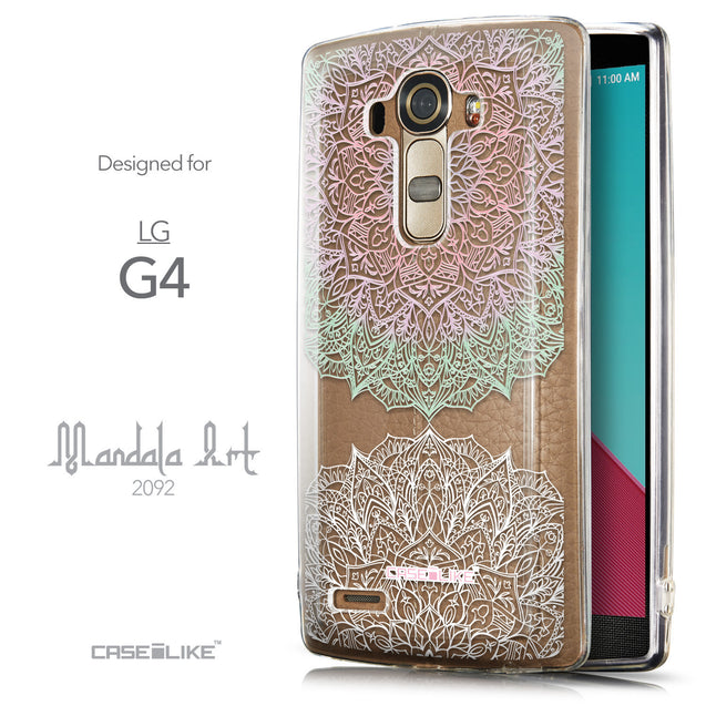 Front & Side View - CASEiLIKE LG G4 back cover Mandala Art 2092