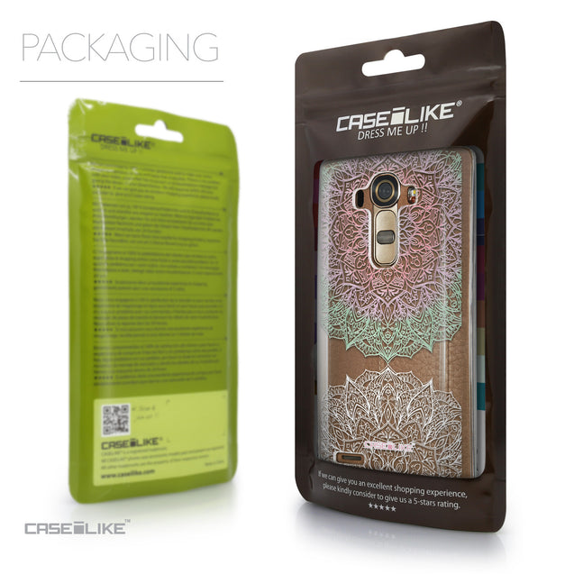 Packaging - CASEiLIKE LG G4 back cover Mandala Art 2092