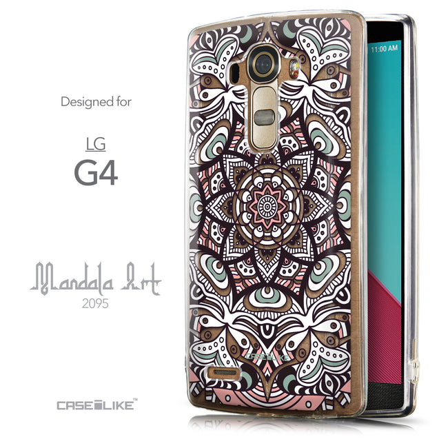 Front & Side View - CASEiLIKE LG G4 back cover Mandala Art 2095