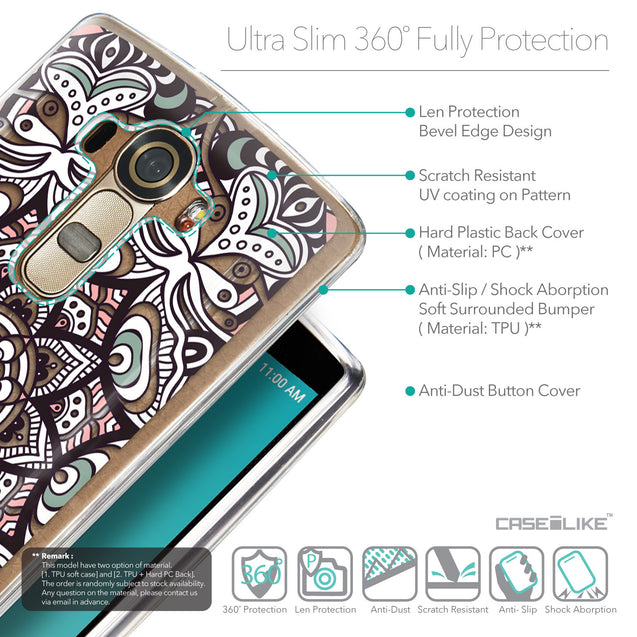 Details in English - CASEiLIKE LG G4 back cover Mandala Art 2095