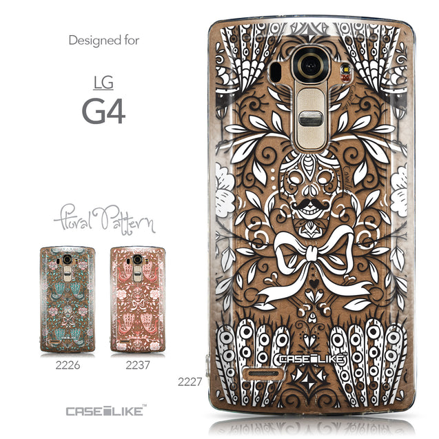 Collection - CASEiLIKE LG G4 back cover Roses Ornamental Skulls Peacocks 2227