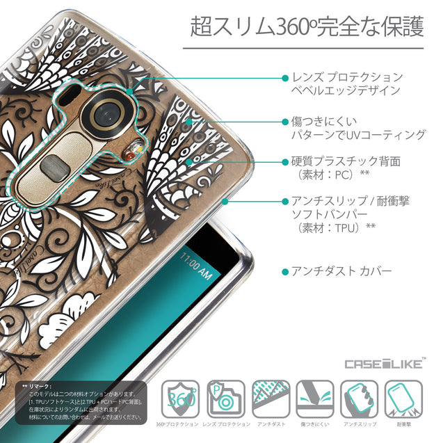 Details in Japanese - CASEiLIKE LG G4 back cover Roses Ornamental Skulls Peacocks 2227