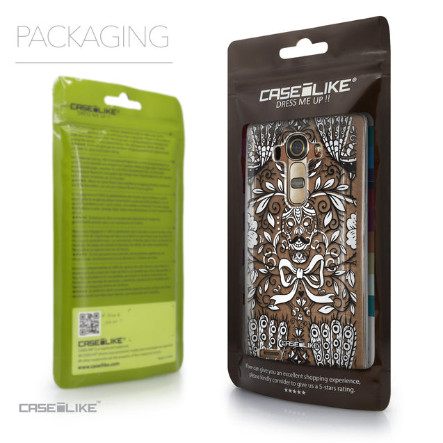 Packaging - CASEiLIKE LG G4 back cover Roses Ornamental Skulls Peacocks 2227