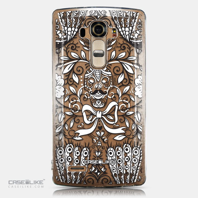 CASEiLIKE LG G4 back cover Roses Ornamental Skulls Peacocks 2227