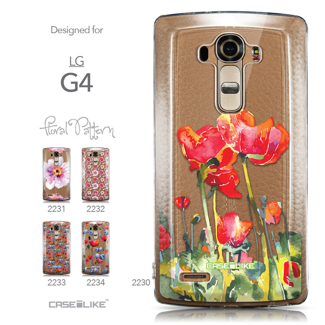 Collection - CASEiLIKE LG G4 back cover Watercolor Floral 2230