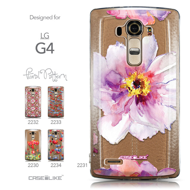 Collection - CASEiLIKE LG G4 back cover Watercolor Floral 2231