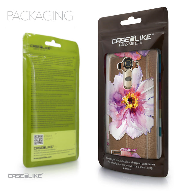 Packaging - CASEiLIKE LG G4 back cover Watercolor Floral 2231